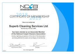 Associate Member of the National Carpet Cleaners Association